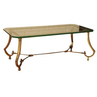 Ramsay Wrought Iron Gilded Cocktail Table