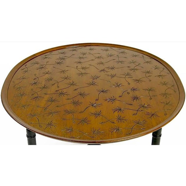 Kittinger Kittinger Tray Coffee Table with Incised Thistledown Design For Sale - Image 4 of 6