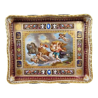Royal Vienna Pierced Tray Depicting Cupid and the Charriot of Venus For Sale