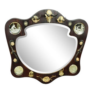 Hunting Wall Mirror Ca. 1910 For Sale