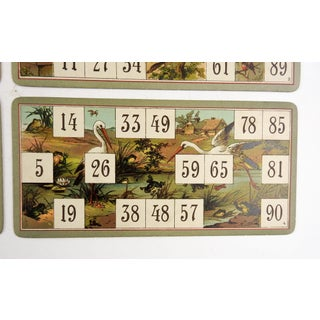 Antique Lithograph Game Cards Kittens, Wolf, Birds - Set of 4 Preview