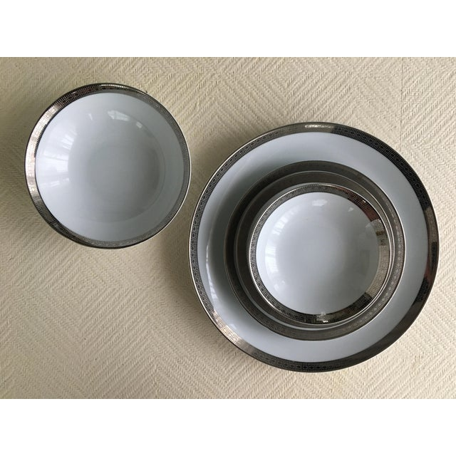 Mikasa Vintage Mikasa Silver Plated Dinnerware Set With Serving Pieces, Place Settings for 6 - 53 Pieces For Sale - Image 4 of 13
