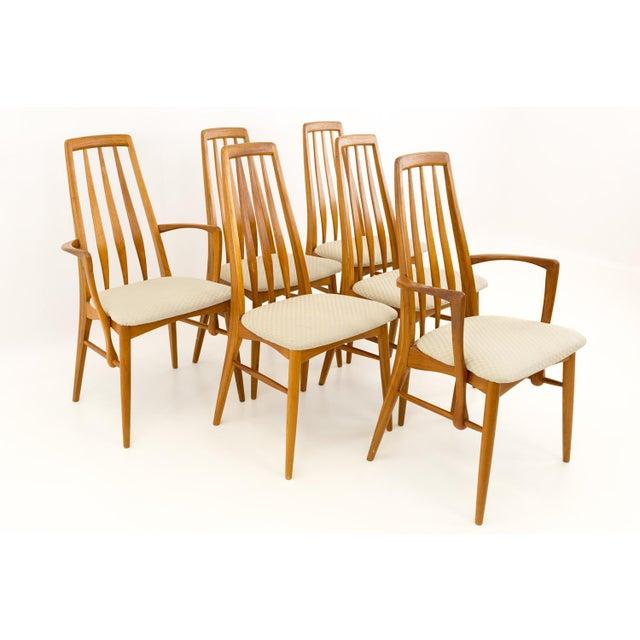 Vintage Mid Century Niels Koefoed Hornslet Danish Teak Eva Dining Chairs - Set of 6 For Sale - Image 13 of 13