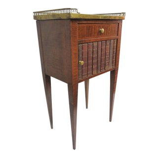 19th Century French MarbleTop Faux Book Nightstand For Sale