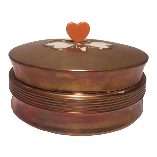 Art Deco Chase Vanity Powder Jar For Sale