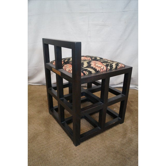Custom Mission Oak Cube Side Chair - Image 5 of 10