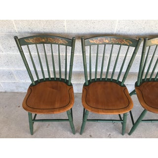 L. Hitchcock Classic Country Harvest Green Windsor Side Chairs - Set of 4 Preview
