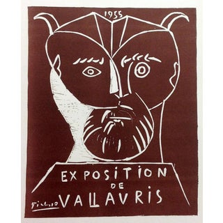 1959 Pablo Picasso 75, Lithograph Expo Vallauris 1955 Poster For Sale