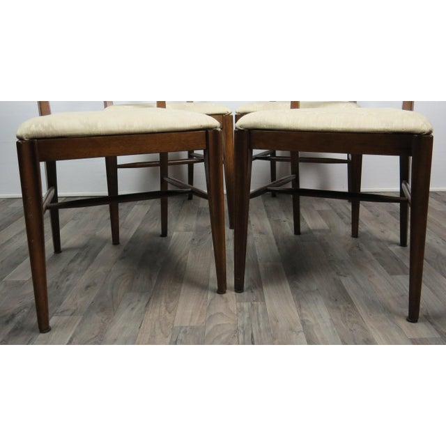 Mid-Century Modern Walnut Bowtie Dining Chairs by Lenoir - Set of 4 For Sale - Image 10 of 13