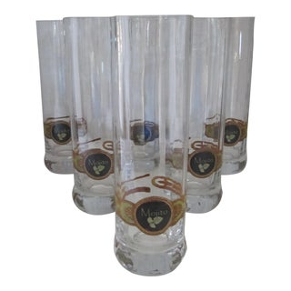 Cigar Band Mojito Glasses-6 Pieces For Sale