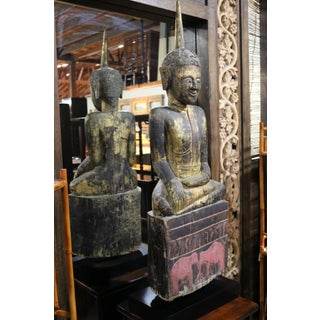 Wooden Seated Buddha Sculpture Preview