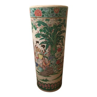 Vintage Asian Style Umbrella Stand For Sale