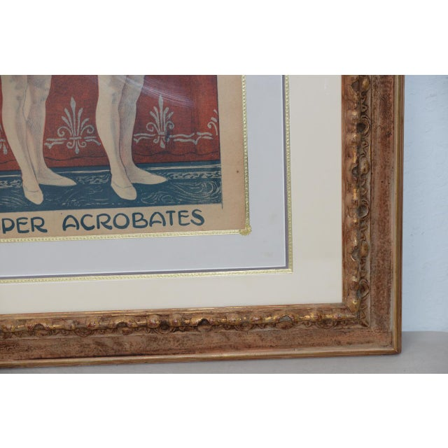 Londonia Super Acrobats Antique French Poster C.1900 For Sale In San Francisco - Image 6 of 10