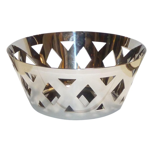 Alessi Stainless Steel Fruit Bowl For Sale