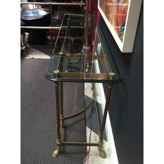 Glass Top & Brass Console - Image 4 of 5