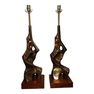 Pair of Sculptural Lamps by Maurizio Tempestini for Laurel For Sale