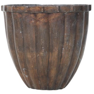 Large Bronze Architectural Planter For Sale