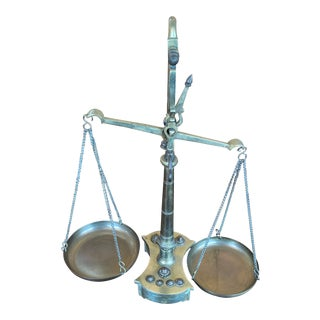 Vintage Brass Scales of Justice For Sale