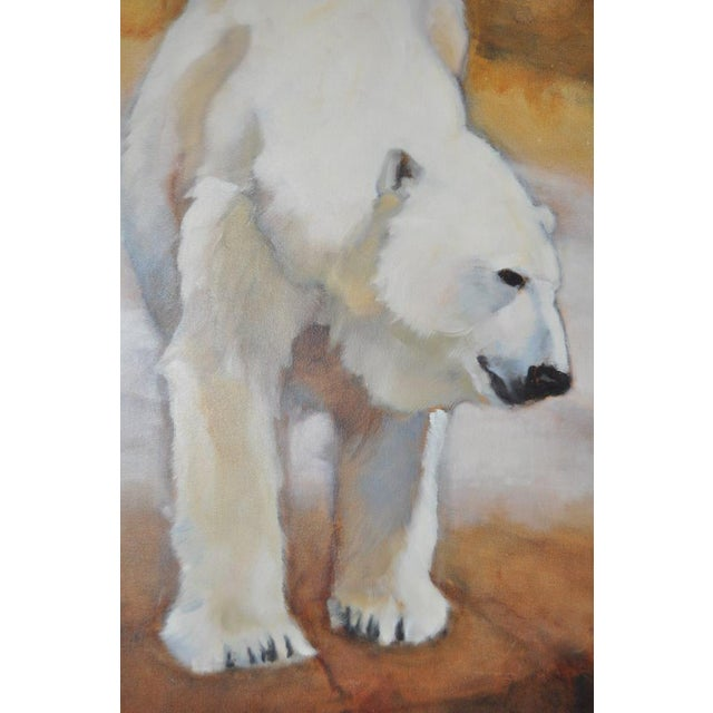 "Ute Simon ""Polar Bear"" Oil on Canvas Painting, Circa 2003 - Image 3 of 9"