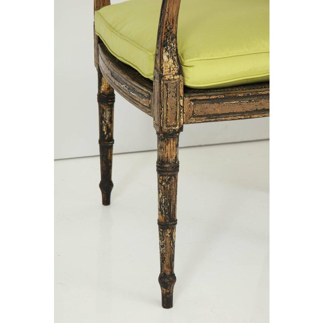 Pair of English Regency Painted and Parcel-Gilt Side Chairs For Sale In New York - Image 6 of 10