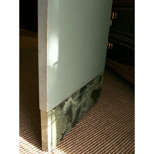 Hollywood Regency Four-Panel Old and Distressed Mirrored Screen For Sale - Image 3 of 5
