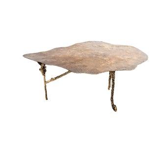 Contemporary Custom Cast Bronze Coffee Table For Sale