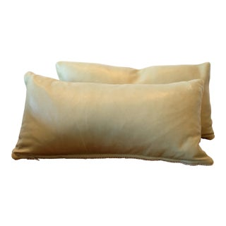 Italian Lambskin Leather Lumbar Pillow Covers - a Pair For Sale