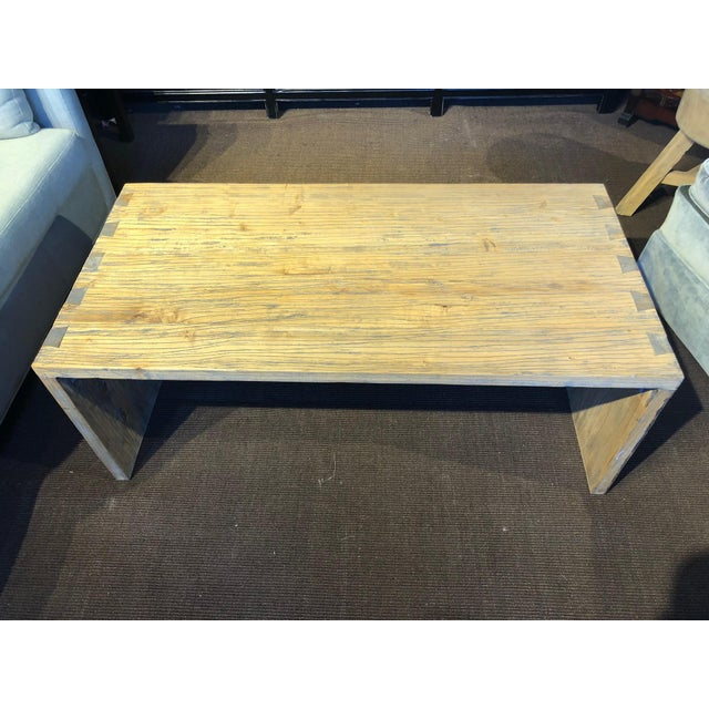 Washed Elm Wood Coffee Table with a Natural or Nautical Look. A modern classic!