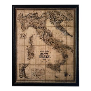 Restoration Hardware Stanford's 1859 Map of Italy For Sale