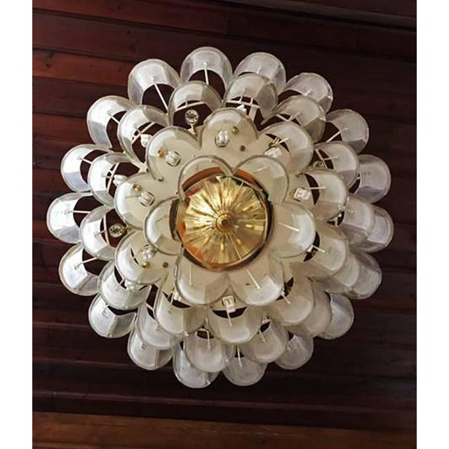 Mid-Century Modern Large Crystal Glass Chandelier, 1960s For Sale - Image 3 of 11
