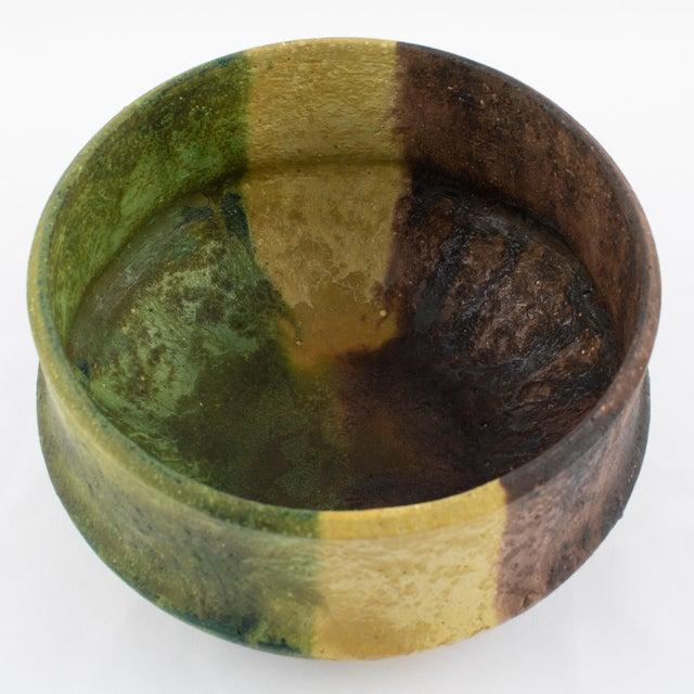 Marcello Fantoni Marcello Fantoni Yellow, Green and Burgundy Ceramic Bowl, Circa 1970s For Sale - Image 4 of 13