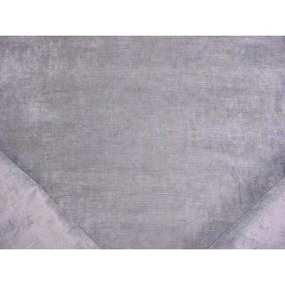 4-1/2y Kravet Couture 32948.11 Silver Velvet Viscose Drapery Upholstery Fabric For Sale