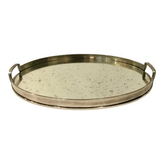 Arteriors Modern Lupita Oval Tray For Sale