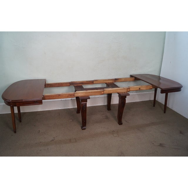Antique French Art Nouveau Walnut Dining Table For Sale - Image 4 of 10