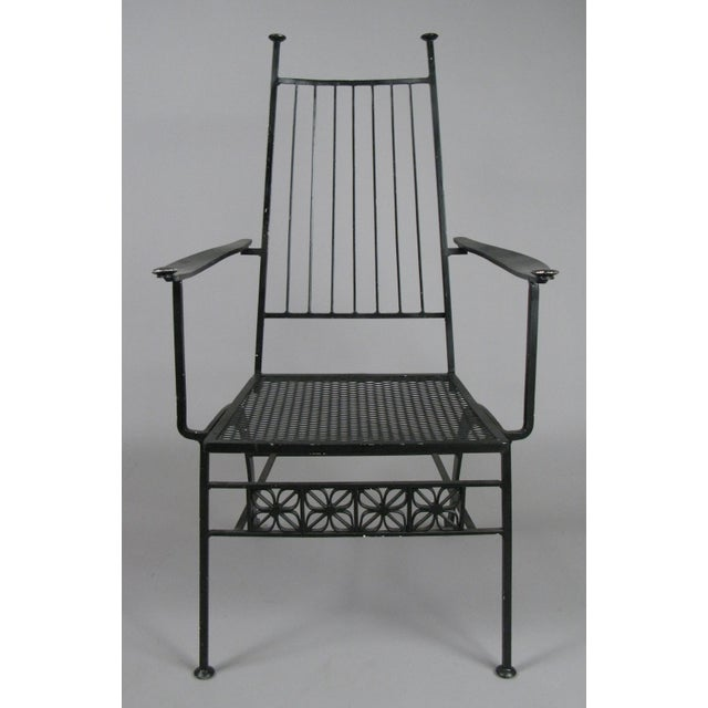A very large set of ten rare dining chairs from the El Prado collection by Salterini, circa 1960. These vintage chairs...