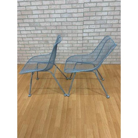 Mid Century Modern Russel Woodard Wire Mesh Sculptural Collection Patio Chairs - Pair These stylish mid-century Mesh patio...
