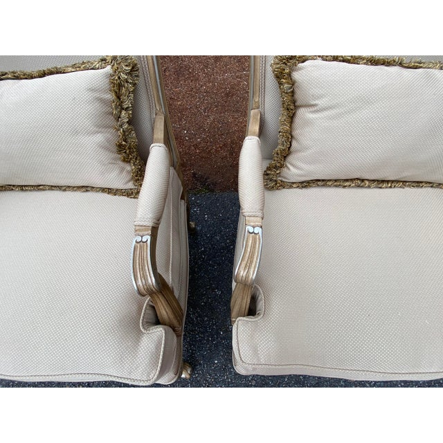 2000 - 2009 Harris Marcus Home Italian Bergere Chairs - a Pair For Sale - Image 5 of 13