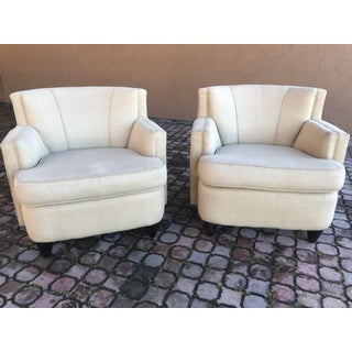 Ccf Barrel Lounge Chairs - a Pair Preview