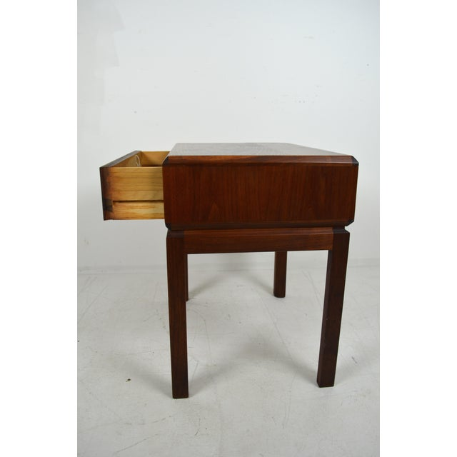 Founders Furniture Company 1960s Mid Century Modern Founders Furniture Co. Walnut Nightstand For Sale - Image 4 of 10