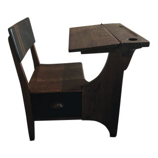 Antique Rustic Refurbished School Desk For Sale
