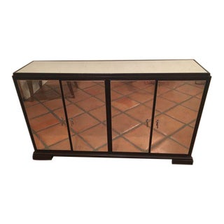 Mid Century Mitchell Gold Mirrored Console Table For Sale