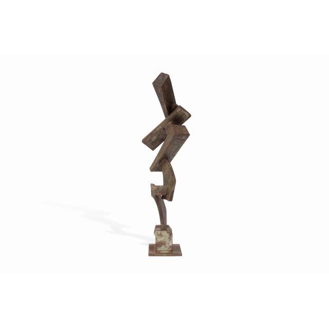Metal Vintage Mid-Century Brutalist Metal Sculpture by Peter Calaboyias For Sale - Image 7 of 13