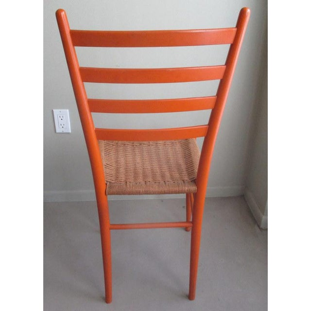 Mid-Century Modern Gio Ponti Style Side Chair For Sale - Image 4 of 7