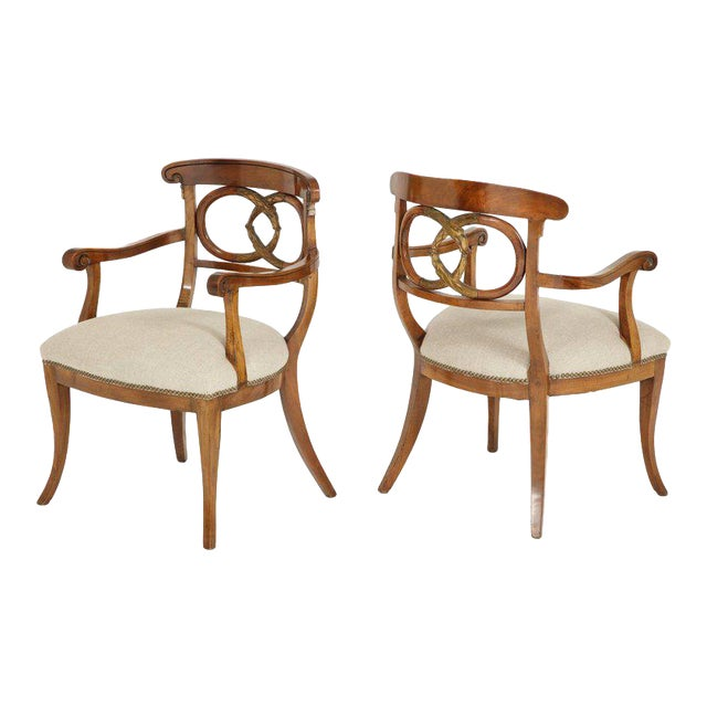 Pair of Biedermeyer Armchairs - Image 1 of 10