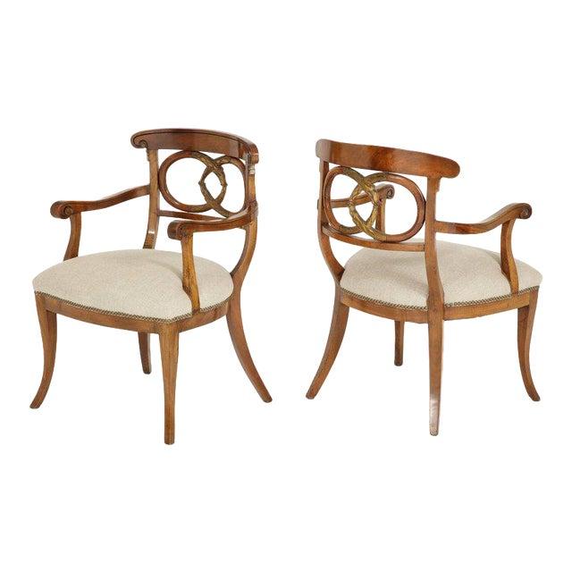 Pair of Biedermeyer Armchairs For Sale