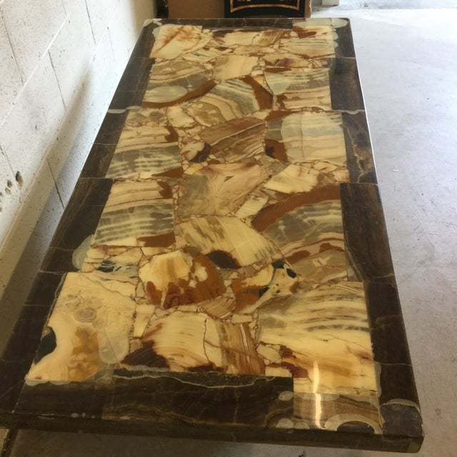 Black Rectangular Onyx Coffee Table Attributed to Muller and Arturo Pani For Sale - Image 8 of 13