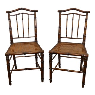 Theodore Alexander Indochine Collection Regency Dance Dining Chairs- a Pair For Sale