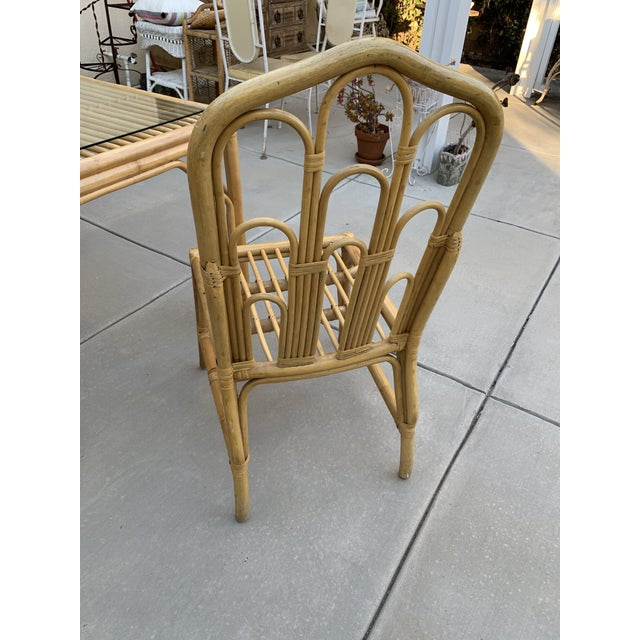 1970s 1970s Boho Chic Bamboo Dining Set of Six Chairs For Sale - Image 5 of 13