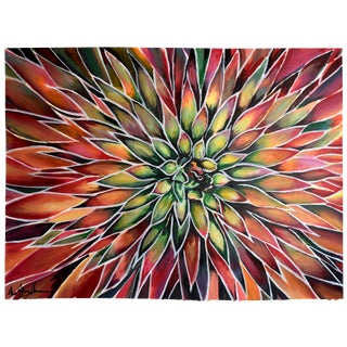 """Agave Pelona"" Large Acrylic Painting by Geoff Greene For Sale"