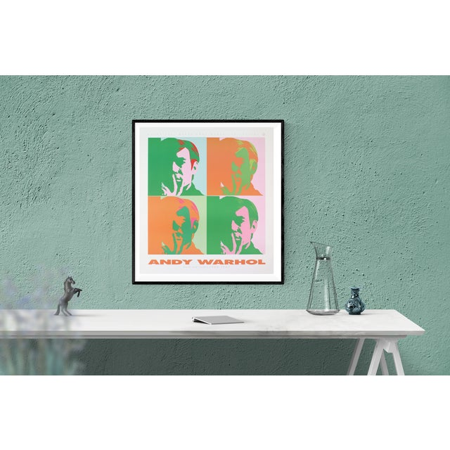 Pop Art Andy Warhol-Four Self Portraits-1989 Poster For Sale - Image 3 of 3